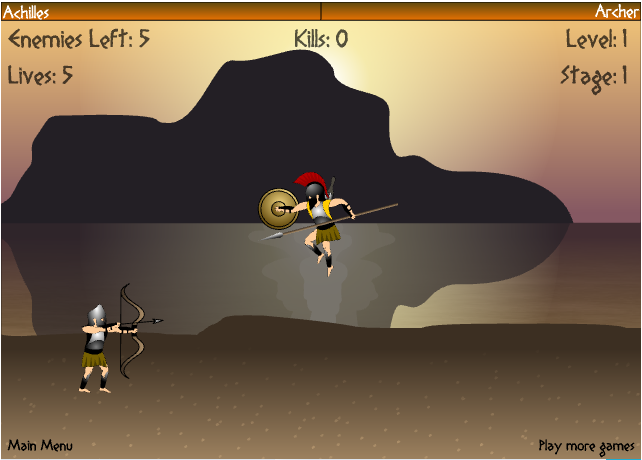 Achilles game flash play online